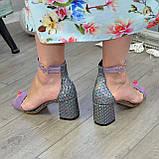 Босоножки женские Vasha Para 1374 38 цвет лиловый/лазер, фото 3