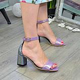 Босоножки женские Vasha Para 1374 38 цвет лиловый/лазер, фото 4