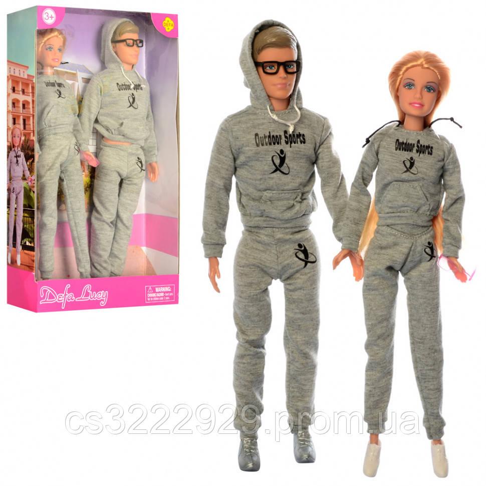 Кукла семья DEFA 8360-BF 29 и 31см, очки, в кор-ке, 32,5-20-5,5см