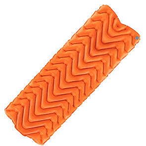 Коврик надувной туристический, матрас LIGHT TOUR (волна) Оранжевый.