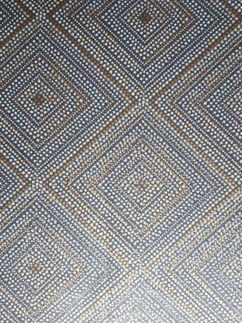Обои виниловые на флизелине Marburg 82162 Giulia геометрия ромб квадрат полосы точки 3д черные серые золото