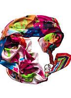Шелковый платок ,,Яркая радуга,, от бренда My scarf , шарф-колье, шарф-чокер, шейный платок