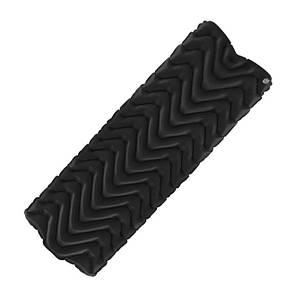 Туристический надувной коврик, матрас LIGHT TOUR (волна) Черный.