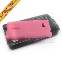 Capdase Силиконовый чехол (+пленка) для HTC Desire 600  Розовый