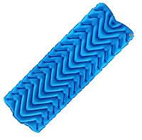 Туристический надувной коврик, матрас LIGHT TOUR (волна) Синий.