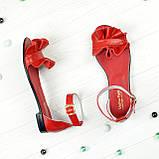 Босоножки кожаные женские Vasha Para 4302 39 цвет красный, фото 2