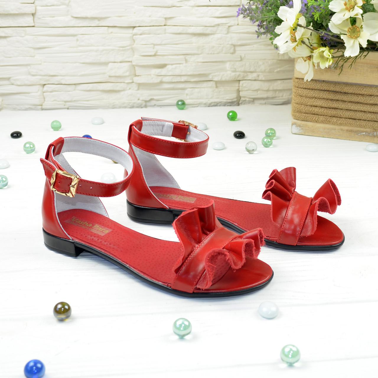 Босоножки кожаные женские Vasha Para 4302 41 цвет красный