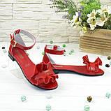 Босоножки кожаные женские Vasha Para 4302 41 цвет красный, фото 4