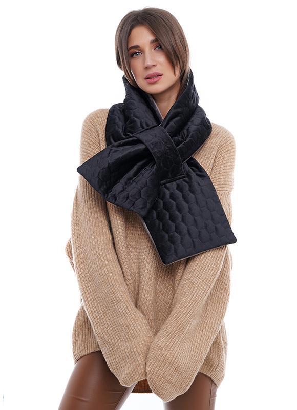"Теплий оксамитовий стеганний шарф ""Нью Йорк"""