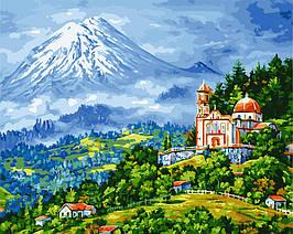Картина по Номерам Деревня в Альпах 40х50см RainbowArt