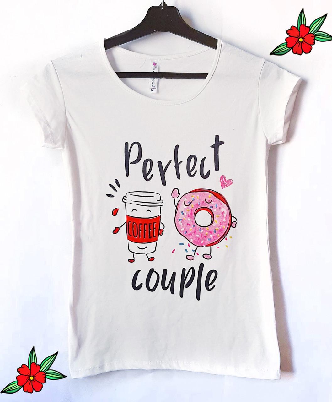 Летняя женская футболка стильная 42-46 (в расцветках)