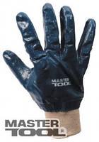 """Перчатки масло-бензостойкие утепленные, нитриловое покрытие, вязаный манжет (синие),10,5"""" 104-108 г, Арт.: 83-0406"""