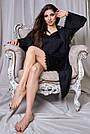 Халат и ночнушка чёрная шёлковая женская, фото 2