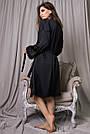 Халат и ночнушка чёрная шёлковая женская, фото 6