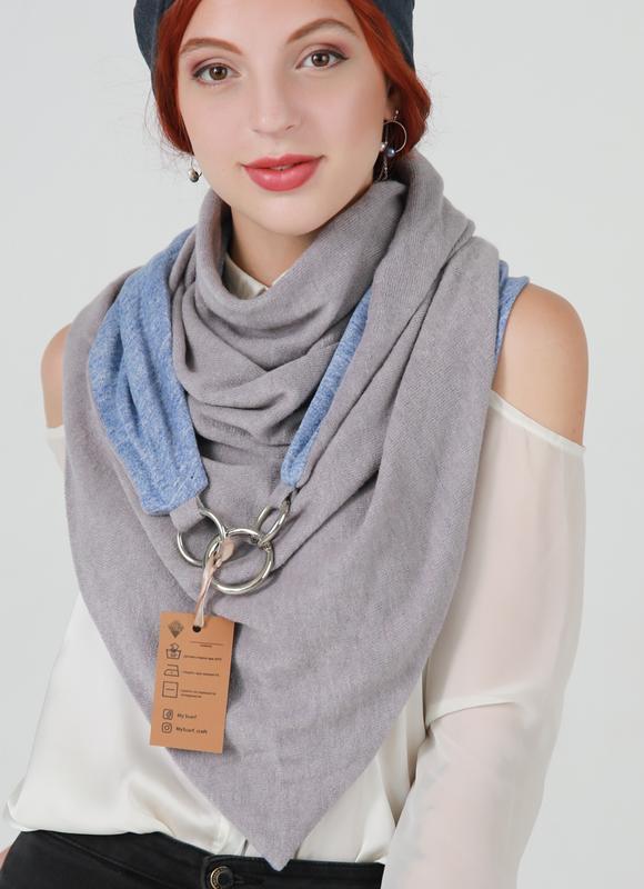 """Шарф-бактус """"Единбург"""", жіночий шарф, великий жіночий шарф, подарунок жінці"""