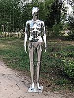 Жіночий сріблястий манекен Аватар Люкс у повний зріст