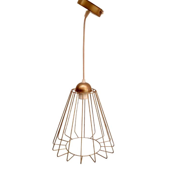 """Подвесной металлический светильник, современный стиль, loft, vintage, modern style """"RUFF-G"""" Е27 цвет золото"""