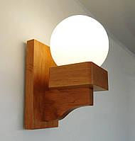 Светильник на стену, натуральное дерево, массив, текстуры дерева, нордическая лампа E14