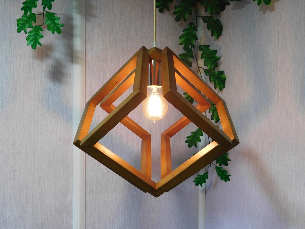 Подвесной светильник из первосортного дерева, современный стиль, бесконечный контур квадрата, светлый