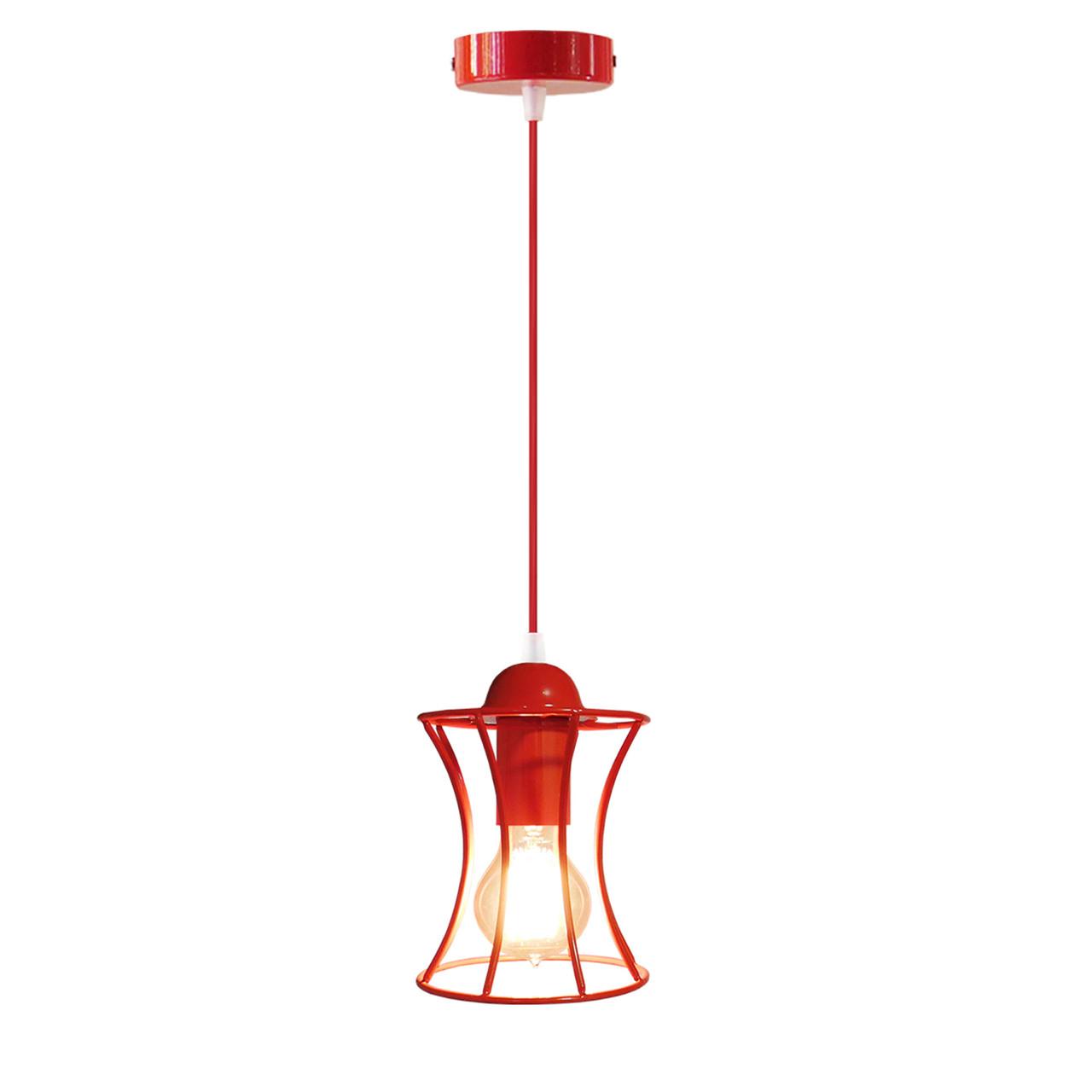"""Подвесной металлический светильник, современный стиль """"SANDBOX-R"""" Е27  красный"""