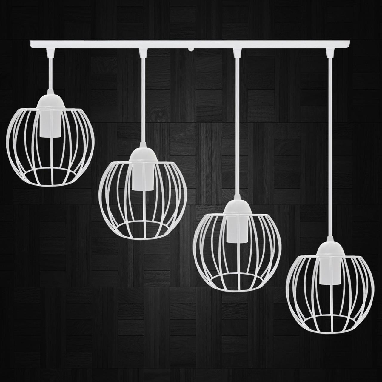 """Подвесной металлический светильник, современный стиль  """"BARREL-4W"""" Е27  белый цвет"""