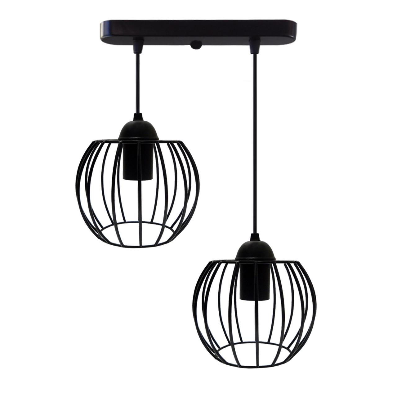 """Подвесной металлический светильник, современный стиль """"BARREL-2"""" Е27  черный цвет"""