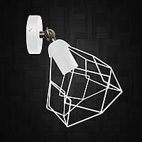 """Настенный светильник / бра лофт / потолочная лампа / на одну лампу / индустриальный стиль / """"RUBY/LS-W"""" белый"""