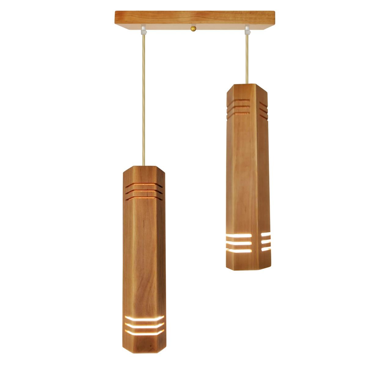 """Подвесной светильник """"MONA-2"""" Е27 натуральное дерево, светлое дерево, лофт освещение"""