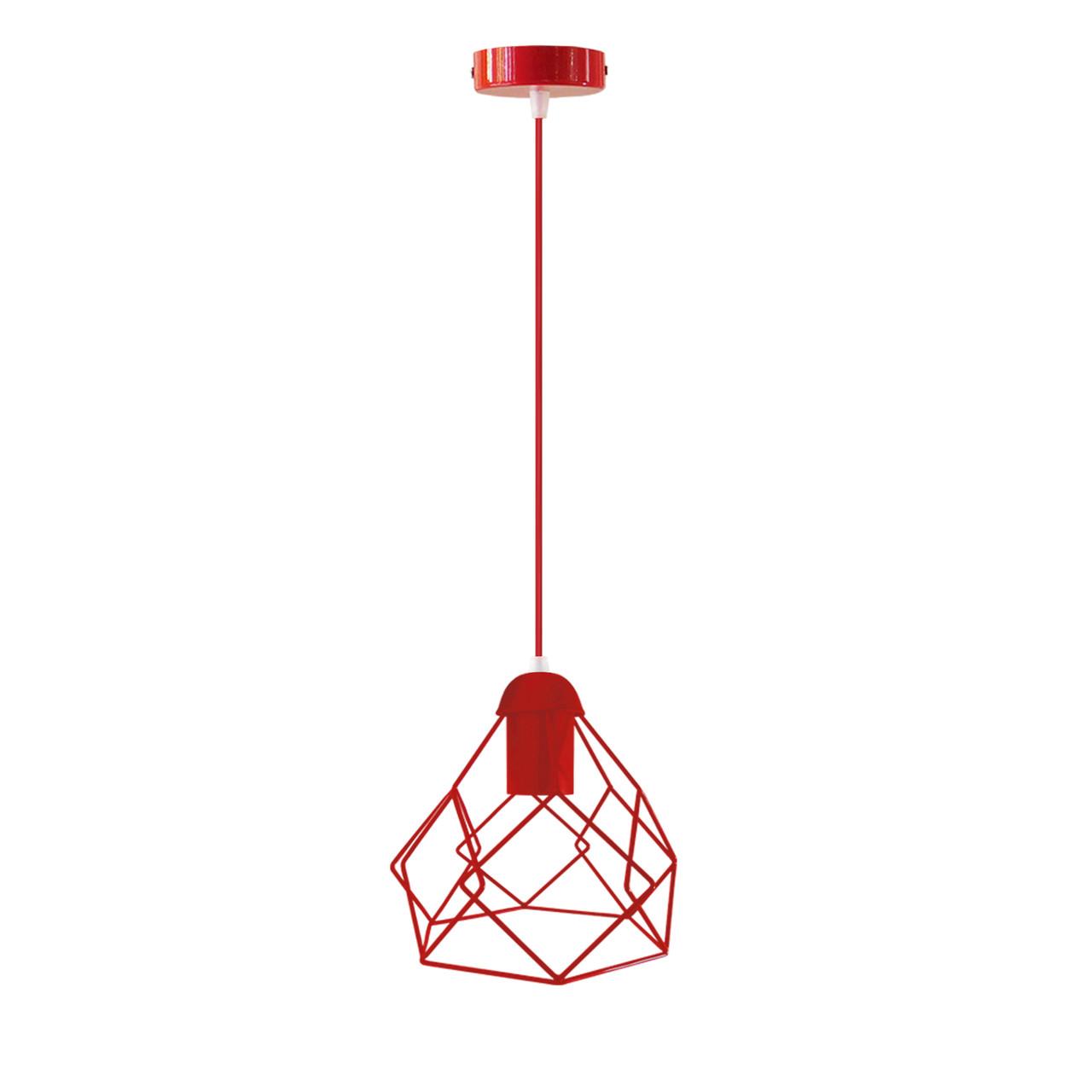 Подвесной  светильник, индустриальный стиль стиль, loft, vintage RUBY Е27  красный