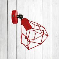 """Настенный светильник, бра поворотное, потолочная лампа  """"RUBY/LS"""" красный"""