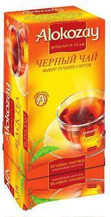 Чорний чай ALOKOZAY 50 пакетиків