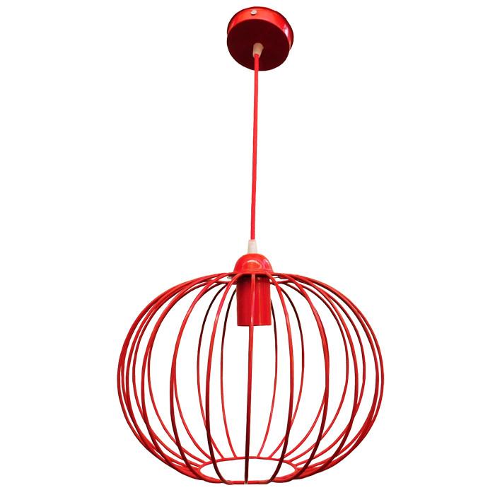 """Подвесной металлический светильник, современный стиль, loft, vintage, modern style """"BALL-R"""" Е27 красный цвет"""