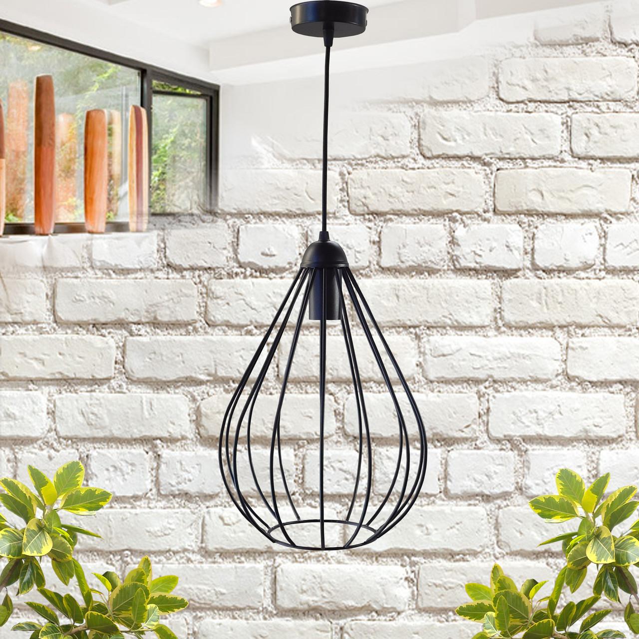 """Подвесной металлический светильник, современный стиль, loft, vintage, modern style """"KAPLIA"""" Е27 черный цвет"""