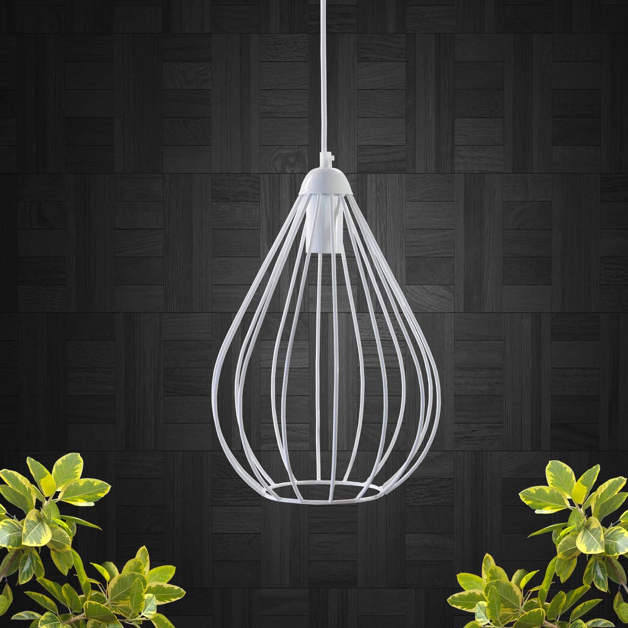 """Подвесной металлический светильник, современный стиль, loft, vintage, modern style """"KAPLIA-W"""" Е27  белый цвет"""