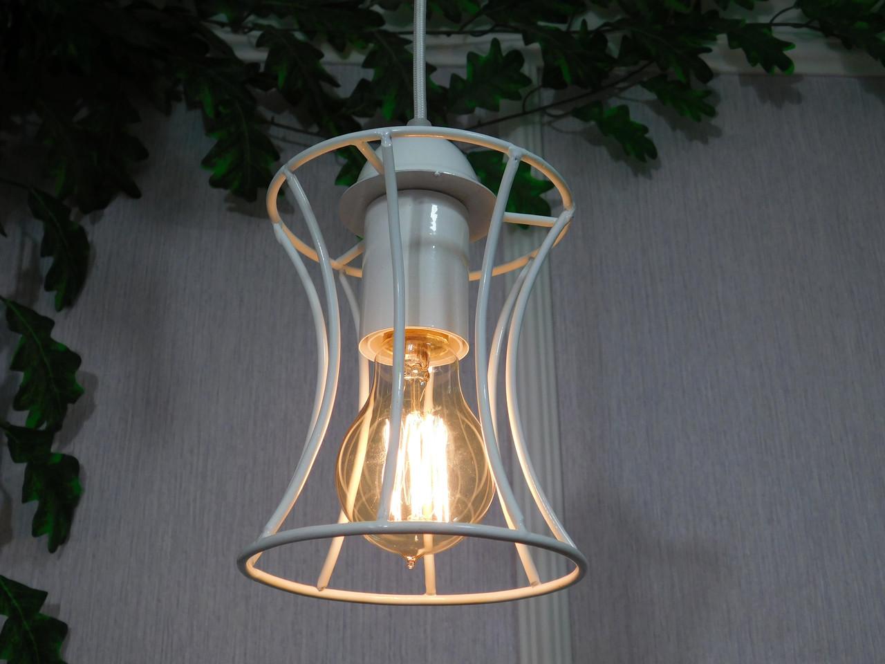 """Подвесной металлический светильник, современный стиль, loft, vintage, modern style """"SANDBOX-W"""" Е27  белый цвет"""