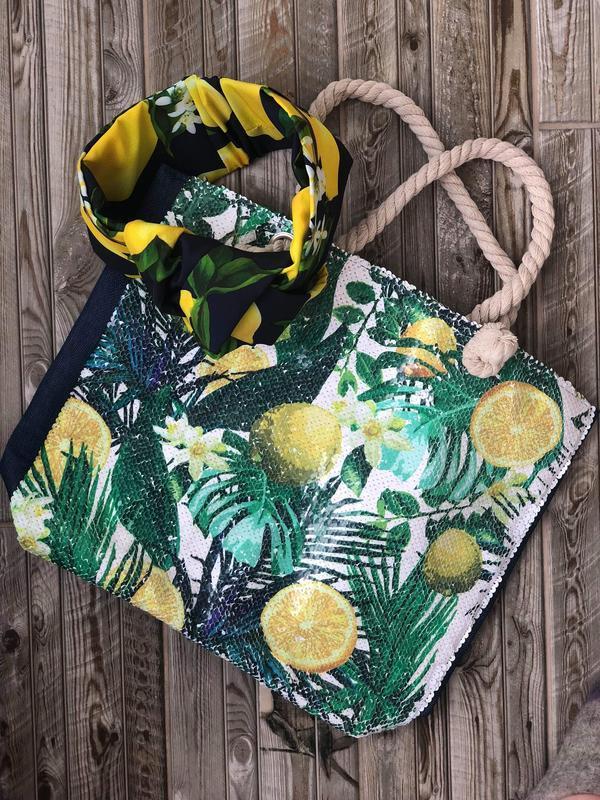 Яркий летний набор My Scarf ( сумка+тюрбан)