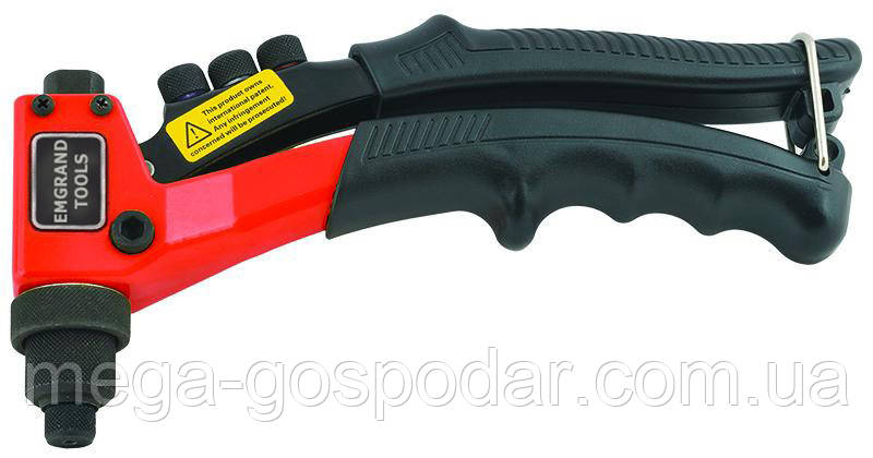 Заклёпочник ручной Emgrand Tools, пистолет для заклепок Ø 2.4, 3.2, 4, 4.8 мм.