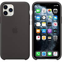 Чехол Silicone Case (силиконовый) для iPhone 11 Pro Black силикон кейс айфон 11 про черный
