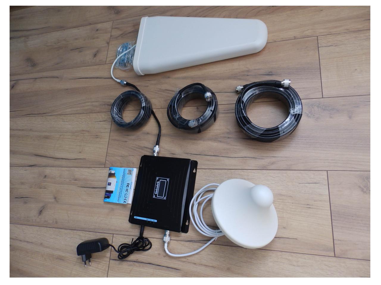Усилитель сигнала Мобильной связи Репитер Repeater GSM 900 МГц, DCS 1800 МГц, 4g / 4G интернета 1800 МГц