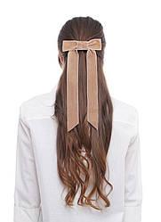 Оксамитовий бант - прикраса для волосся