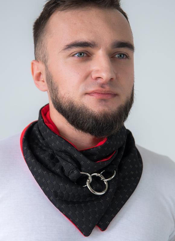 """""""Нью-Йорк"""" шарф мини-снуд, мужской шарф, теплый мужской шарф, подарок мужчине"""