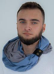 """Кашеміровий шарф""""Мілан """", шарф снуд, шарф бактус, зимовий чоловічий шарф, великий чоловічий шарф"""