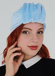Оксамитовий тюрбан, пов'язка тюрбан, головний убір, шапка тюрбан, подарунок жінці