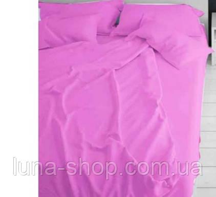 Комплект однотонный ярко-розовый, бязь (Хлопок)