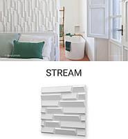 Гіпсова 3Д панель STREAM 60x60