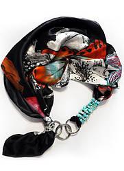 """100% шовк, шовковий хустку, шарф, шарф-кольє, шийну хустку """"Карнавальна ніч"""", подарунок жінці"""