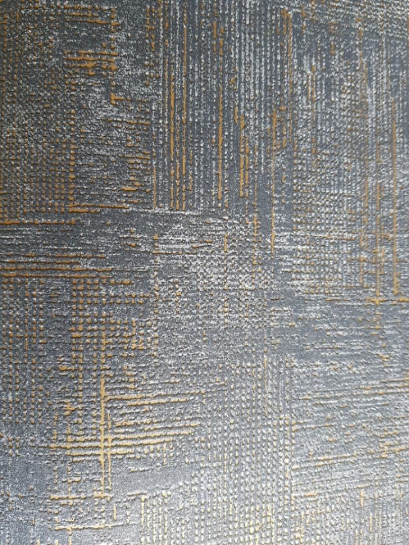 Обои виниловые на флизелине Marburg 82169 Giulia геометрия абстракция полосы точки 3д темно синие золотистые