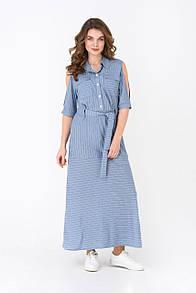 Летнее платье RM1955-18DD (голубой цвет)