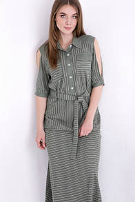 Летнее платье RM1955-18DD (хаки цвет)