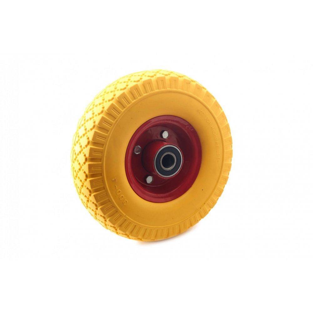 Колесо для тачки садовой 3,50 -7 TL (прессрезина, под ось d-20мм ) (желтое) MRHD